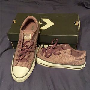 Converse size 10 violet dust/dusk purple/white